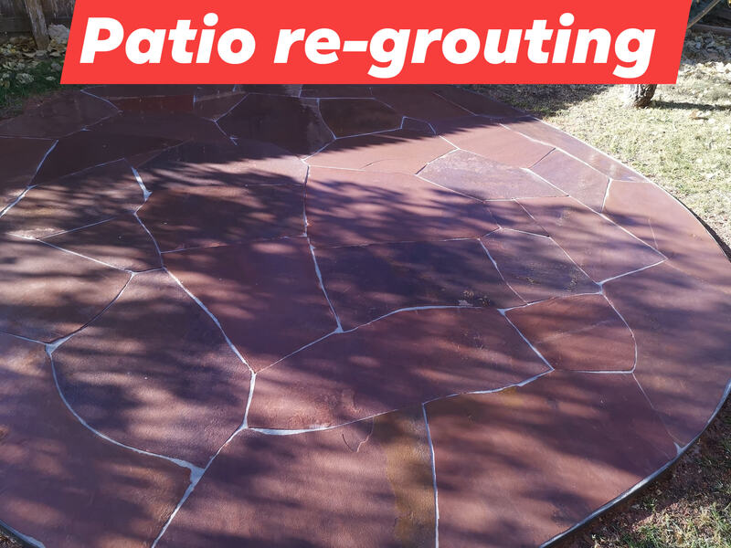 Regrouted patio