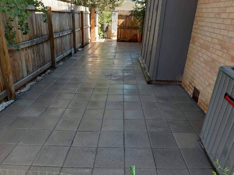 Patio by fence